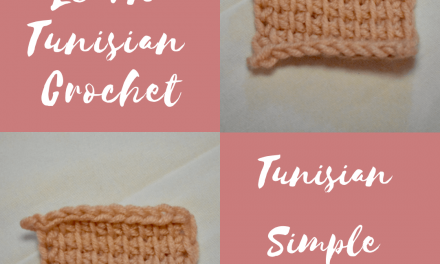 Learn Tunisian Crochet: Tunisian Simple Stitch (TSS)
