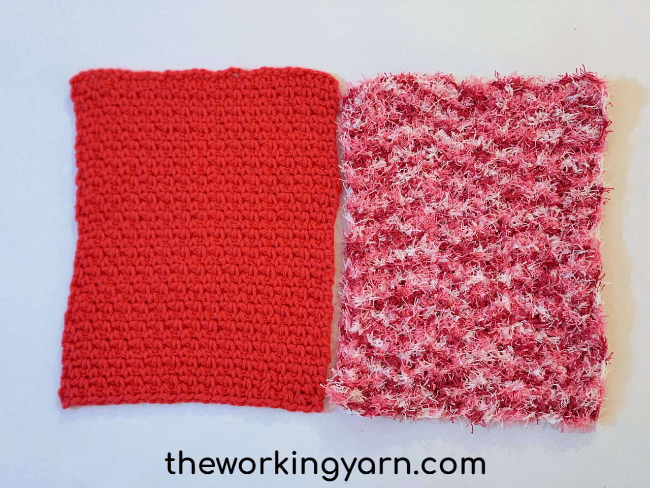 Crochet Dishcloths In 2 Ways The Working Yarn